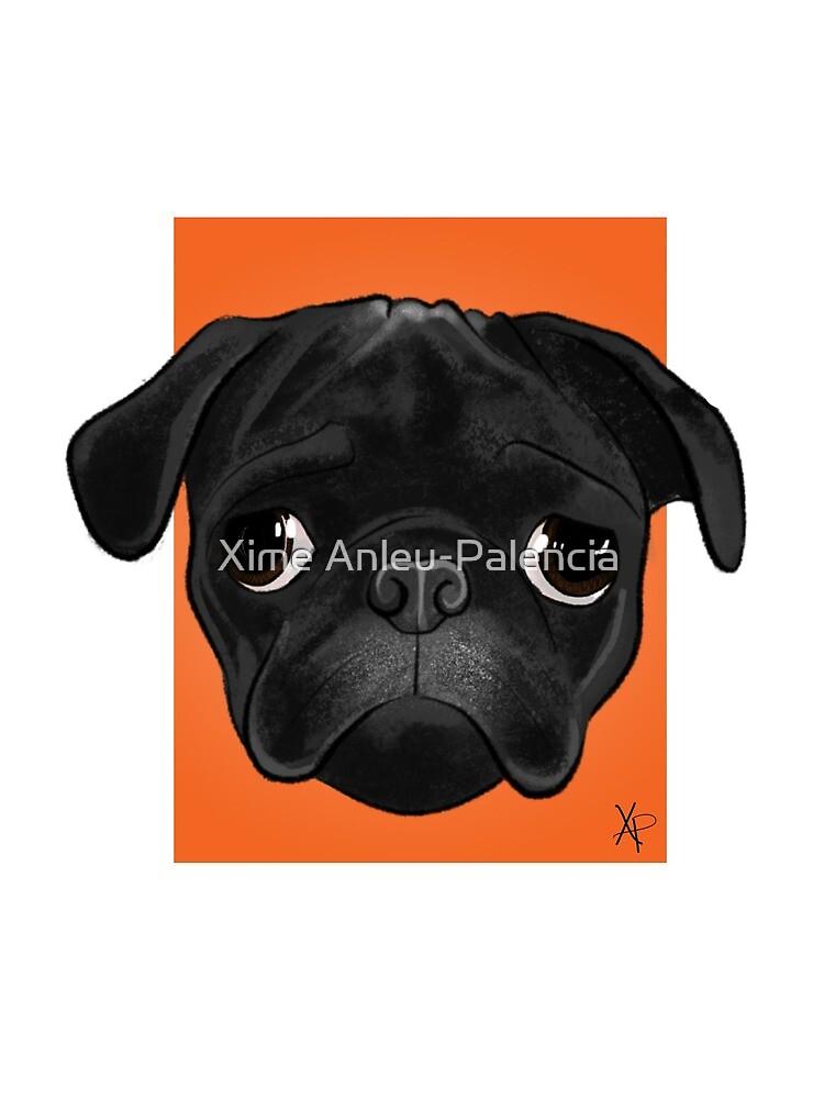 Black Pug by XimeAnleu