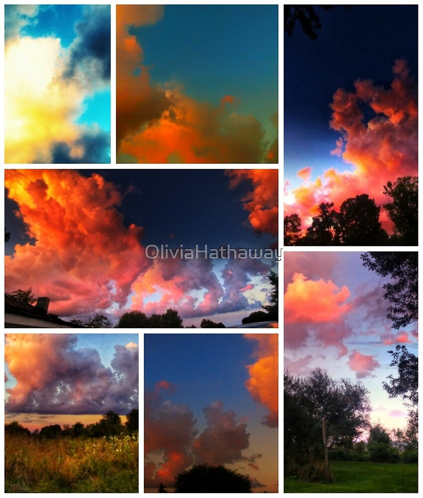 Sunset Collage by OliviaHathaway