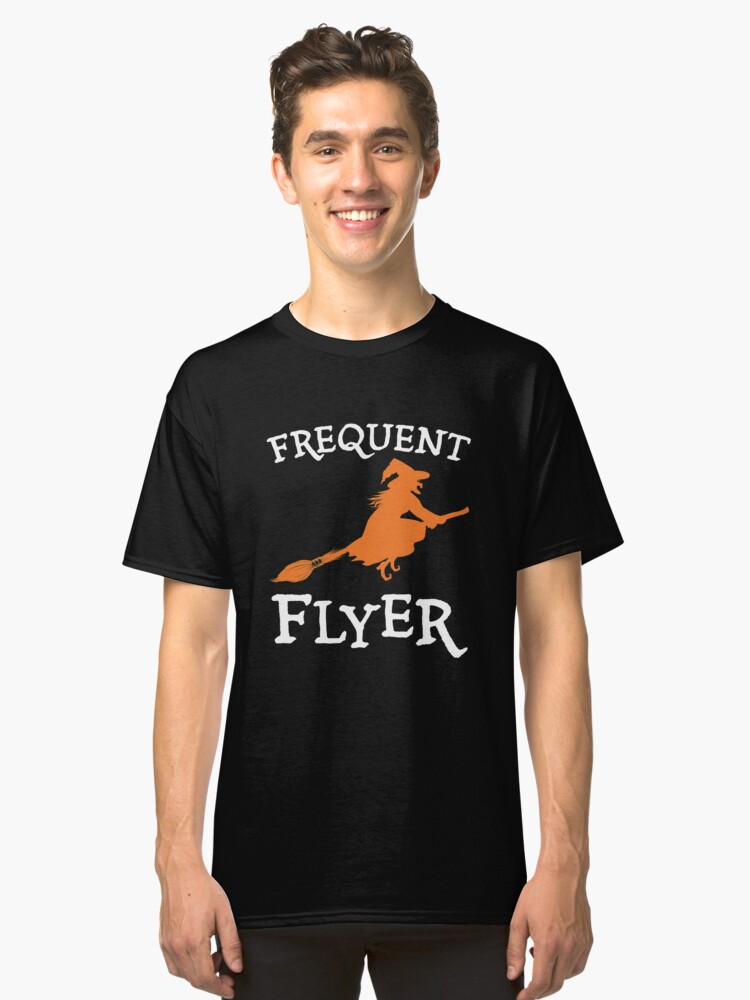 Witch on A Broomstick Classic T-Shirt Front
