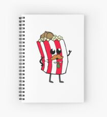 Detective Popcorn and his Buttery Goodness! Spiral Notebook