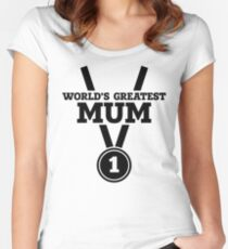 World's Greatest Mum Women's Fitted Scoop T-Shirt