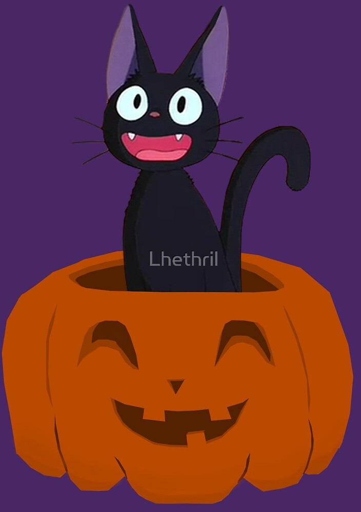 Kiki's Delivery Service-Jiji-Halloween by Lhethril