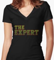 Awesome Expert Tshirt Design The expert Women's Fitted V-Neck T-Shirt