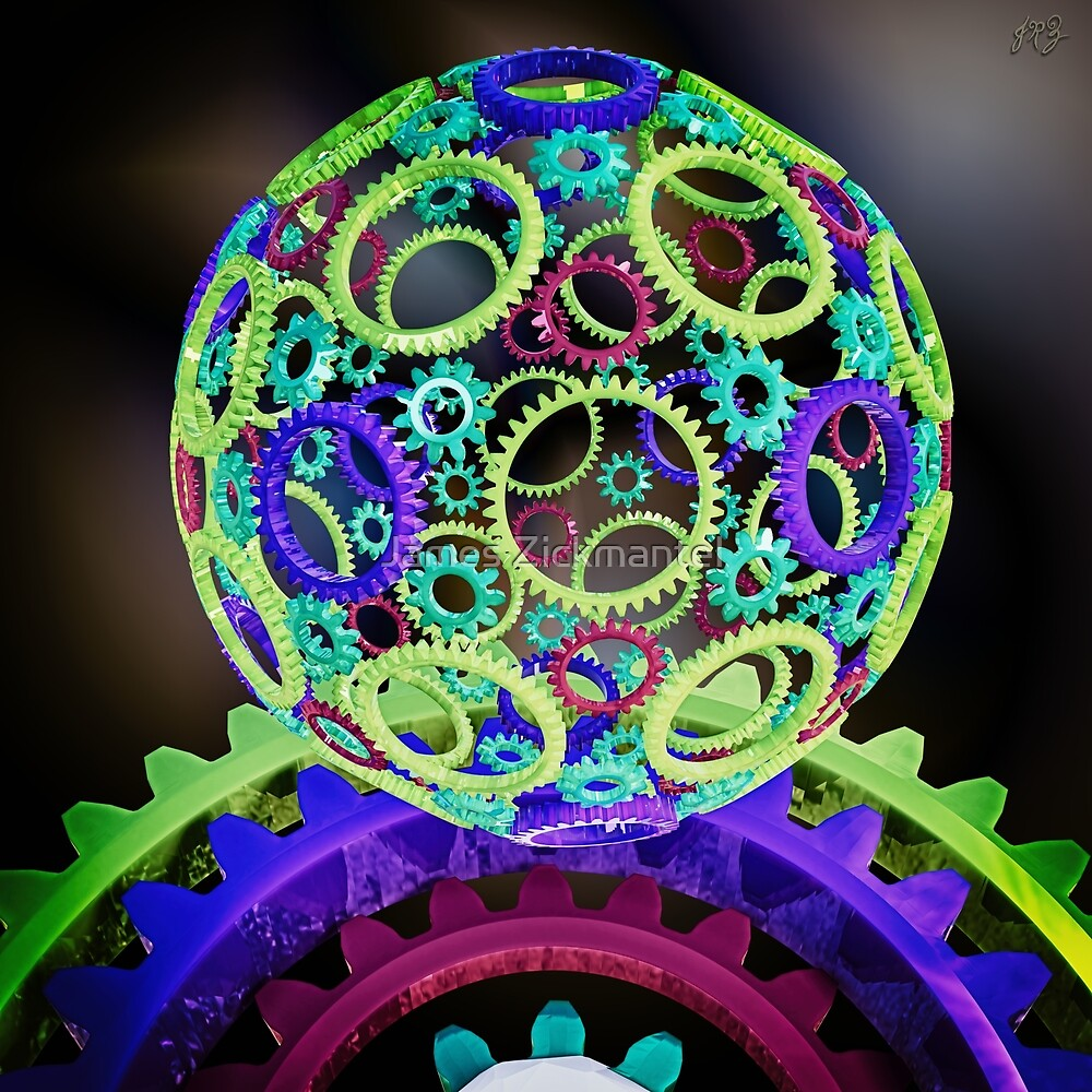 GearSphere ~ Colored 4-Way by James Zickmantel