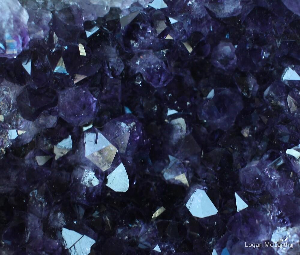 Purple Crystals 1 by Logan McCarthy