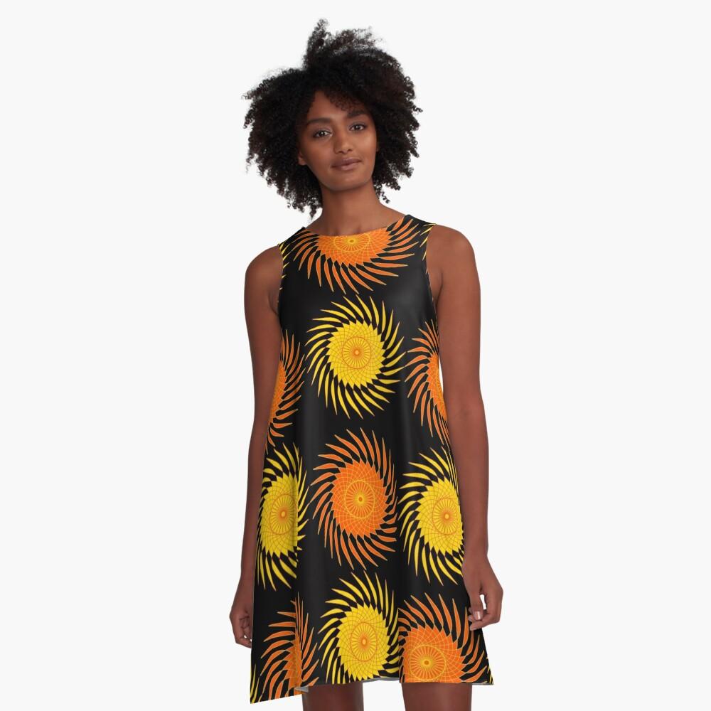 Harvest Sun A-Line Dress Front