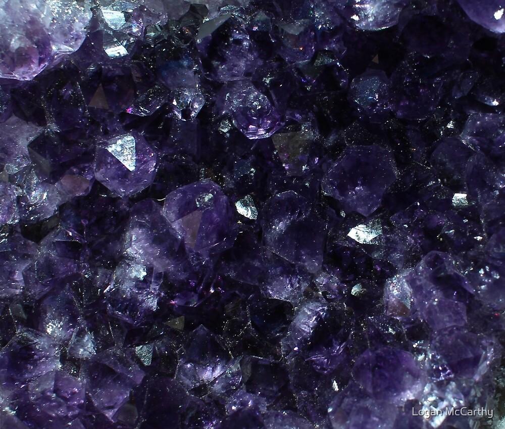Purple Crystals 2 by Logan McCarthy