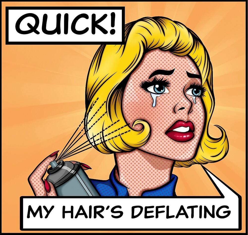 Hairspray pop art by Zemolee
