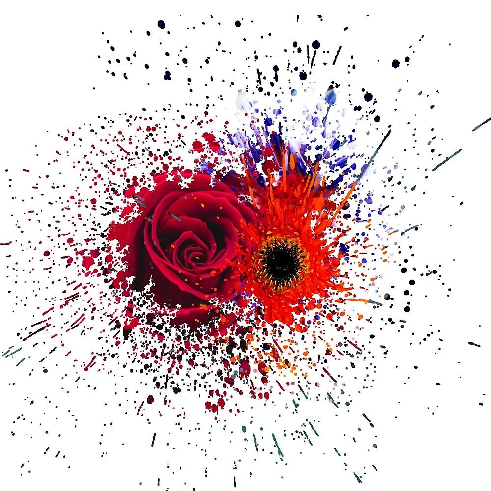 flower splatter by Mr-Moustachio