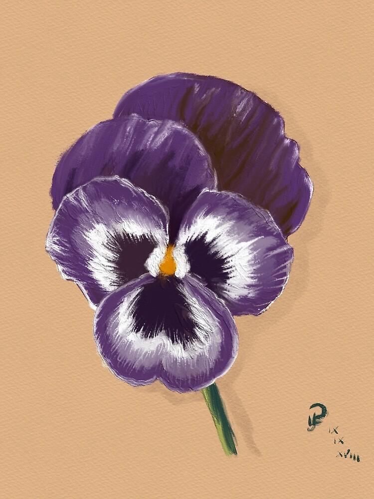 Viola in Oils by Rasendyll
