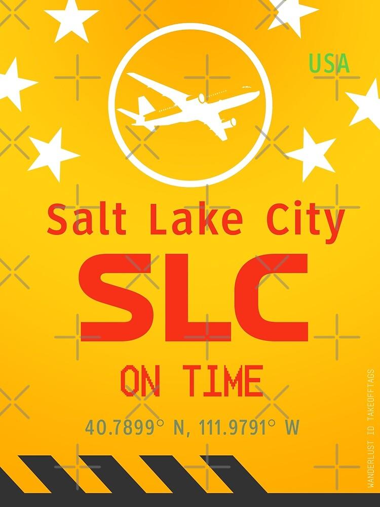 SLC Salt Lake City airport yellow by Wanderlust ID