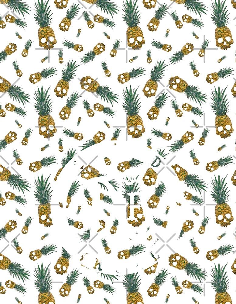 Skull Pineapple Aquamarine - Backpack by afoldskull