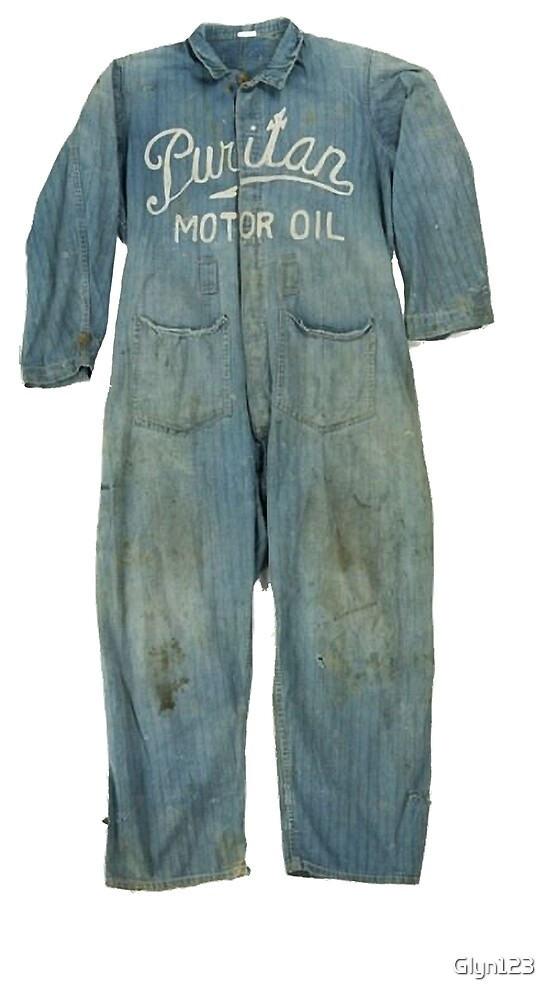 Vintage Workwear Overall Puritan Motor Oil Hipster by Glyn123