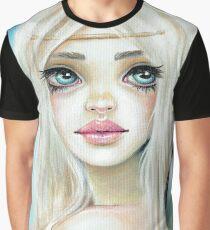 Jasmine Fairy Sky Blue background Graphic T-Shirt