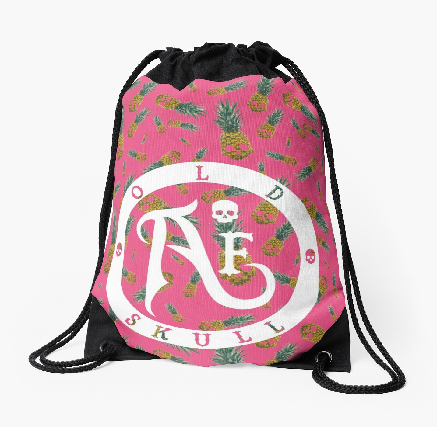 Skull Pineapple Pink - Backpack by afoldskull