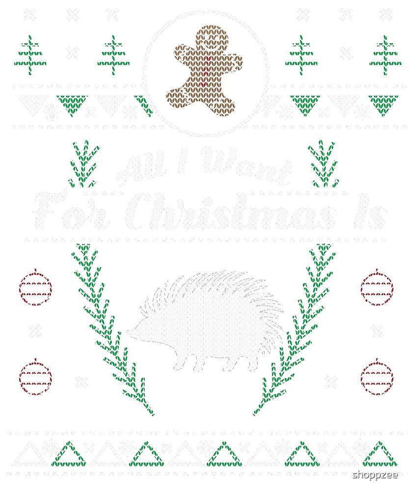 Pet Hedgehog Christmas Ugly Shirt by shoppzee