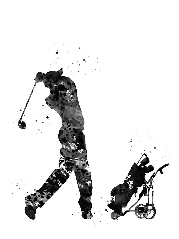 Man golfer by erzebetth