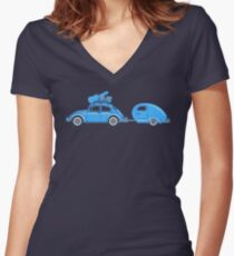 Recreation Leave Women's Fitted V-Neck T-Shirt