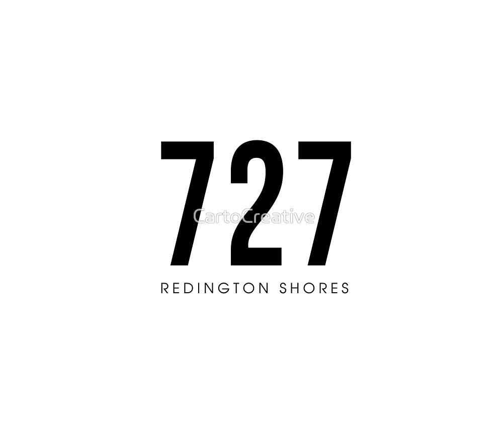 Redington Shores, FL - 727 Area Code design by CartoCreative