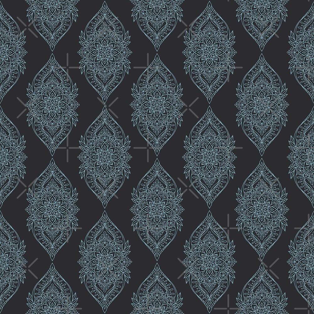 Hindu motife - light blue on gray by FK-UK