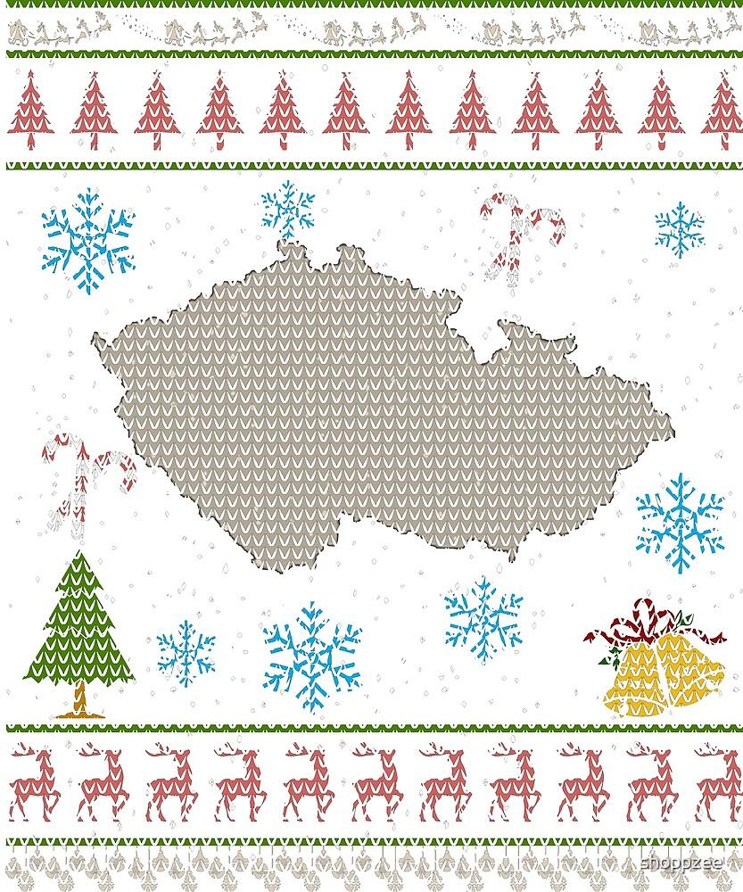Czech Republic Christmas Ugly Shirt Czechs by shoppzee