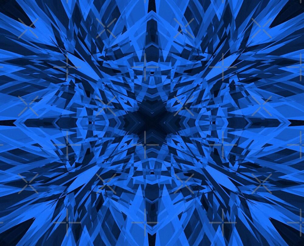 Blue kaleidoscope star pattern  by steveball
