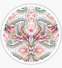 Lily, Leaf & Triangle Pattern - multi-color version Sticker