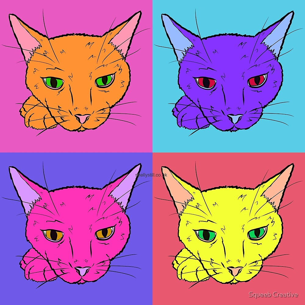 Pop Art Pets! What's New Pussy Cat? by Squeeb Creative