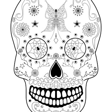 The Day of the Dead Sugar Skull by mcb-jp