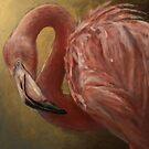 Painted Pink Flamingo by Julie Mayo