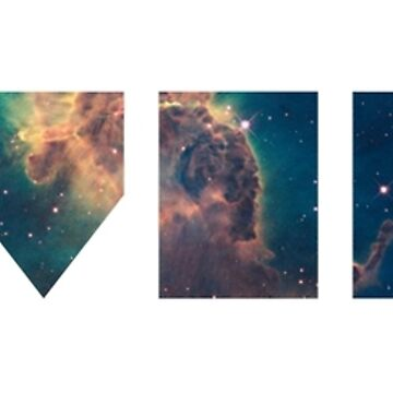 Abstract Universe - Text (White) by RobbeRNL