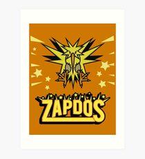 Zapdos Legendary Bird Art Print