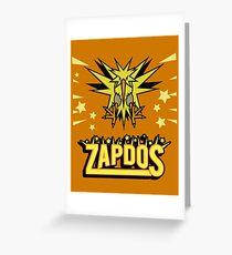 Zapdos Legendary Bird Greeting Card