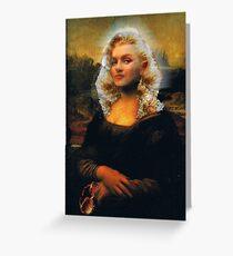 Mona Marilyn Greeting Card