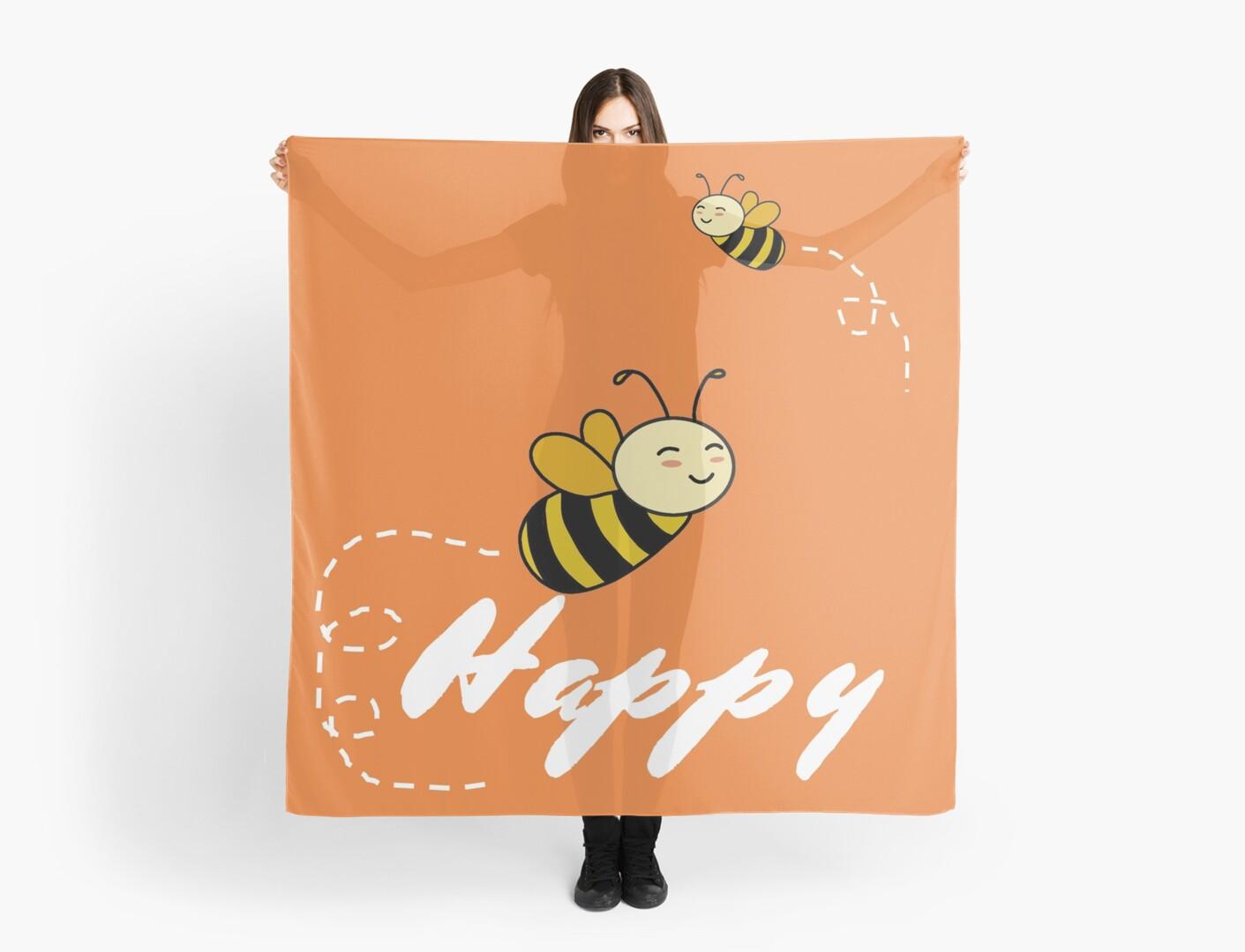 Cute 'Bee' Be Happy Cartoon by chicgal