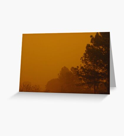 Queensland dust storm 2009 Greeting Card
