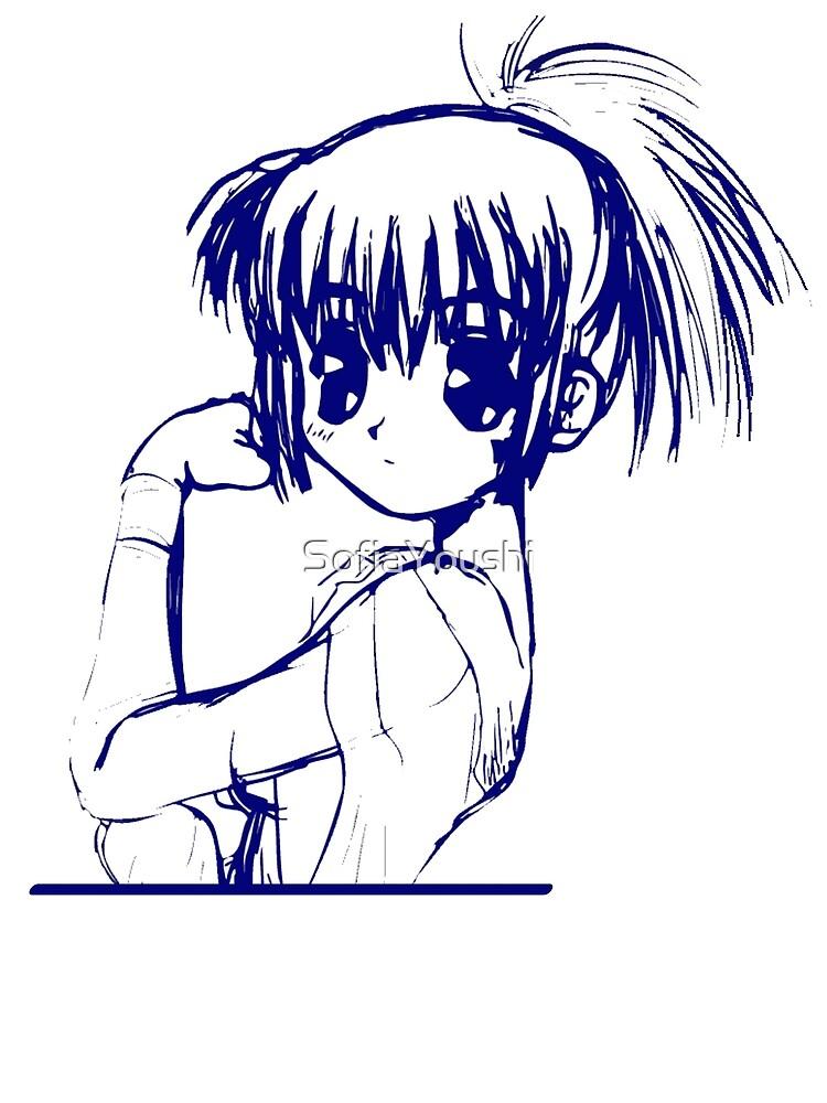 SHOUJO MANGA ANIME GIRL  by SofiaYoushi