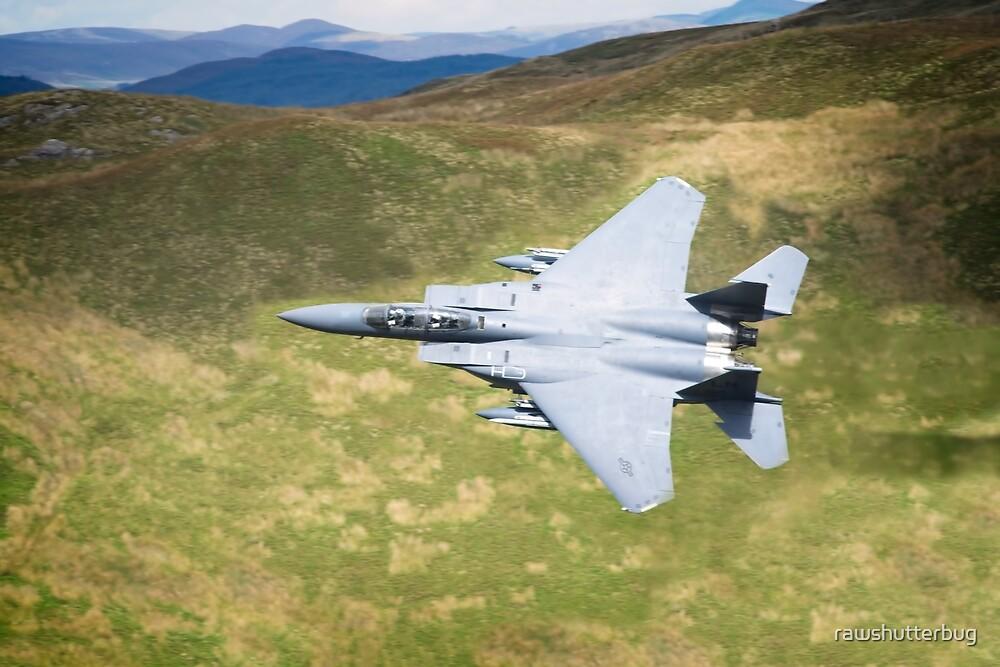 Low Flying F-15E Strike Eagle by rawshutterbug