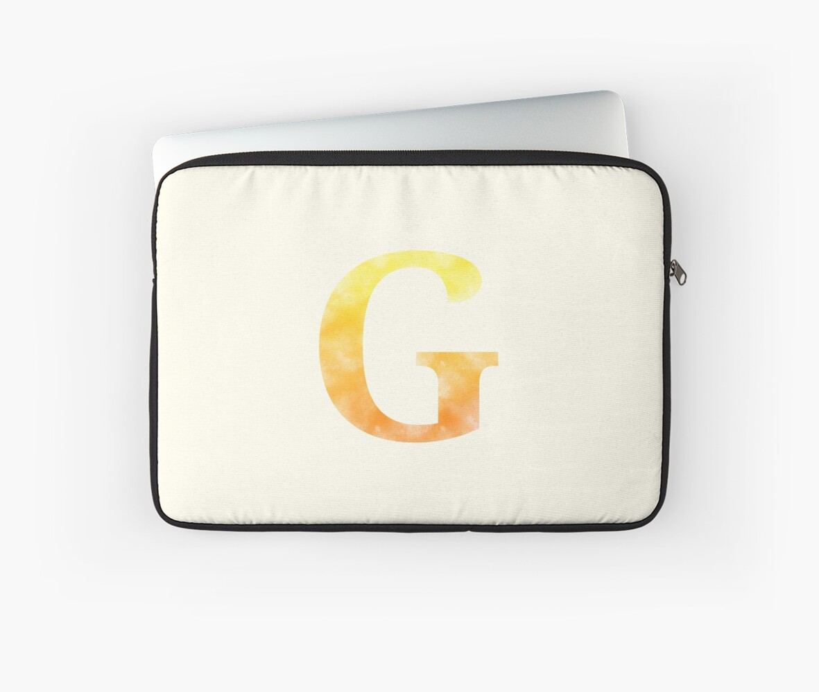 Letter G - Yellow and orange by gaman