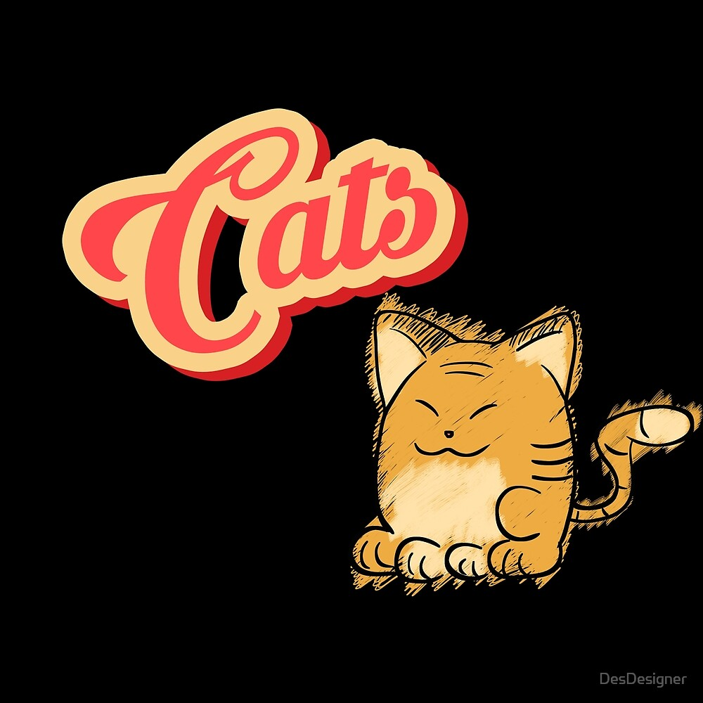 Cat   cute cat lettering by DesDesigner