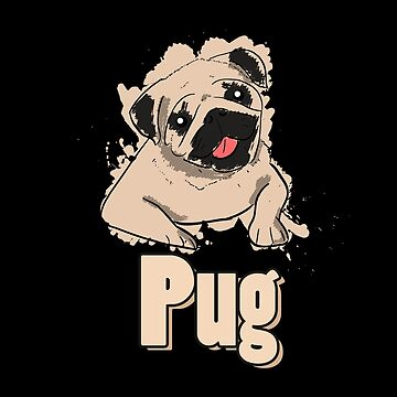 Pug | cute dog puppy by DesDesigner