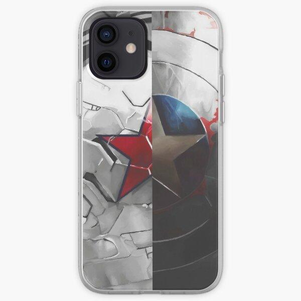 El escudo y el soldado Funda blanda para iPhone