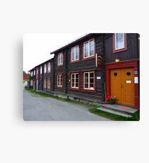 The Town of Röros Canvas Print
