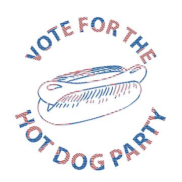 Funny Hot Dog Party Voting by CroDesign
