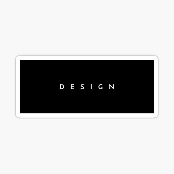 Design (minimal) Sticker