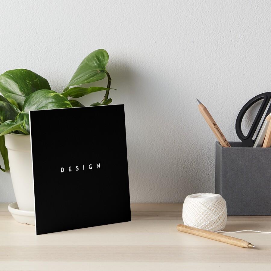Design (minimal) Art Board Print