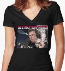 Destination Mars Women's Fitted V-Neck T-Shirt