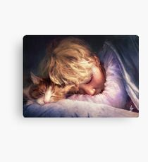 The Boy with the Cat Canvas Print