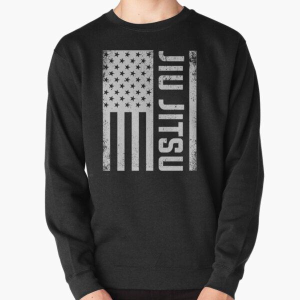 Patriotic MMA Grappling Bjj Brazilian Jiu Jitsu American Flag Pullover Sweatshirt