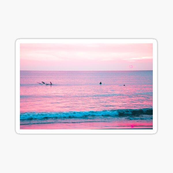 Surfing surf Retro Beach American Vinyl Round Surfer On Wave Huntington Beach California Sticker